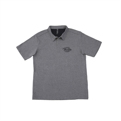 FENDER T-Shirt Μπλούζα Industrial Polo Grey Large