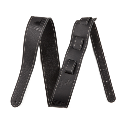 FENDER Monogram Leather Black Ζώνη